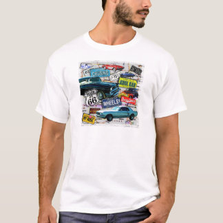 Route 66 - Classic Cars MENS LIGHT TEES
