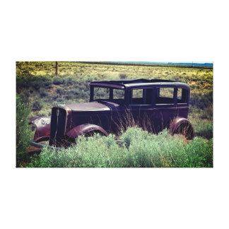 ROUTE 66 CLASSIC OLD VINTAGE 1920'S CAR CANVAS PRINT