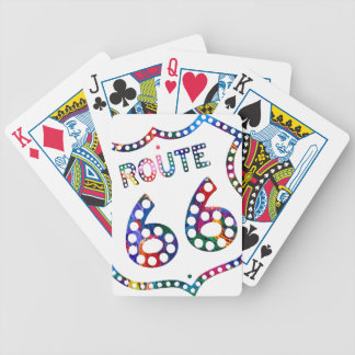 Route 66 color splash! bicycle playing cards