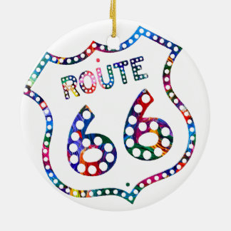 Route 66 color splash! ceramic ornament