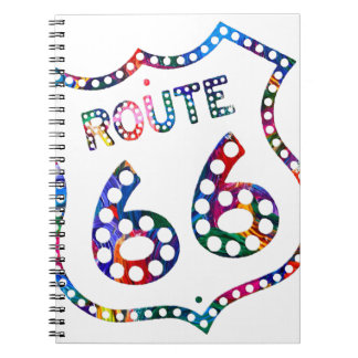Route 66 color splash! notebook