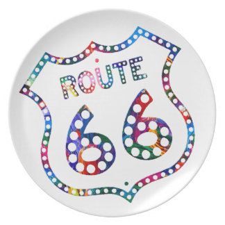 Route 66 color splash! plate