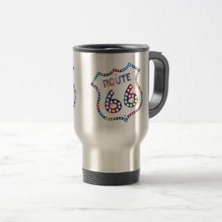 Route 66 color splash! travel mug