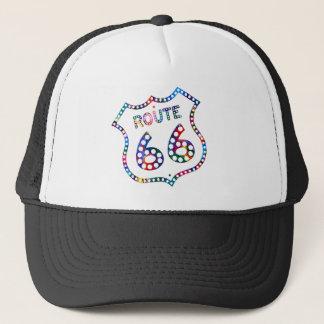 Route 66 color splash! trucker hat