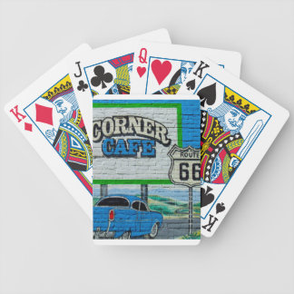 Route 66 Corner Cafe Wall Bicycle Playing Cards