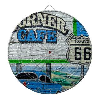 Route 66 Corner Cafe Wall Dartboard