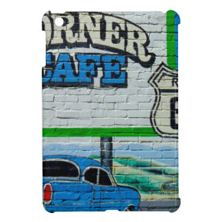 Route 66 Corner Cafe Wall iPad Mini Covers