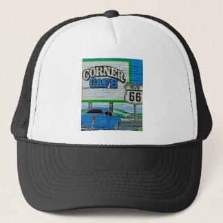 Route 66 Corner Cafe Wall Trucker Hat
