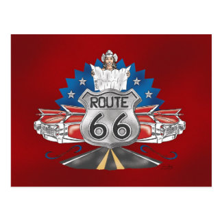 Route 66 Cowgirl Postcard