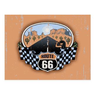Route 66 Desert Postcard