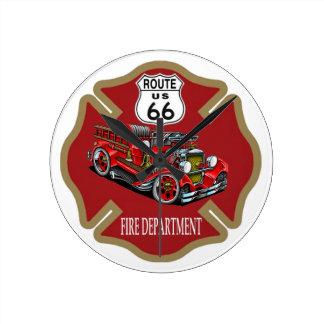 Route 66 Fire Department Clock