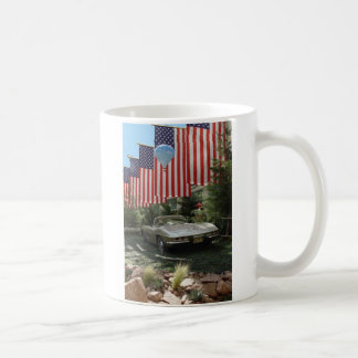 Route 66 Flags with Corvette Coffee Mug