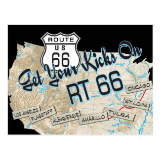 route 66 gifts postcard