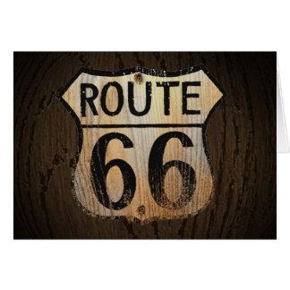 Route 66 Greeting Card Wood BG