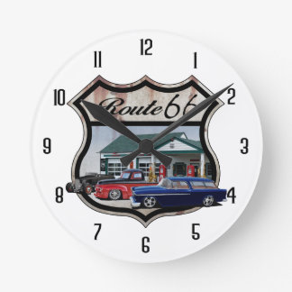 Route 66 Group Round Clock