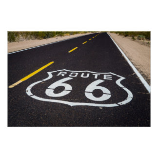 Route 66 highway marker, Arizona Poster