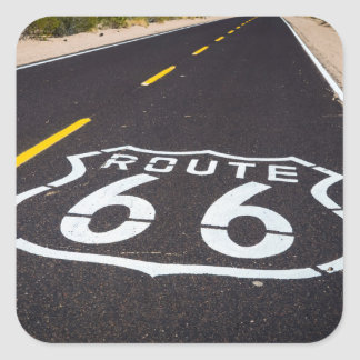 Route 66 highway marker, Arizona Square Sticker