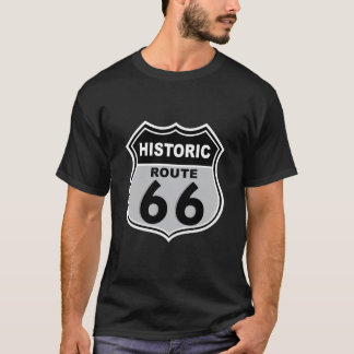 Route 66 Historic  Road Sign T-Shirt