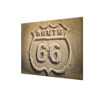 Route 66 historic sign, Arizona Canvas Print