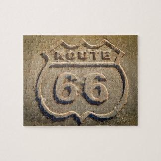 Route 66 historic sign, Arizona Jigsaw Puzzle