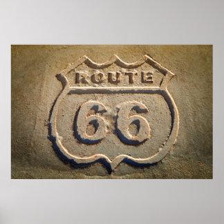 Route 66 historic sign, Arizona Poster