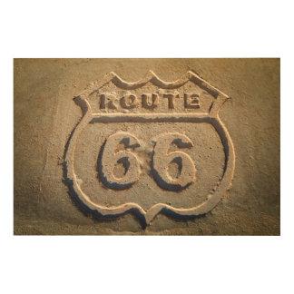 Route 66 historic sign, Arizona Wood Canvas