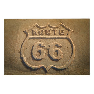Route 66 historic sign, Arizona Wood Print
