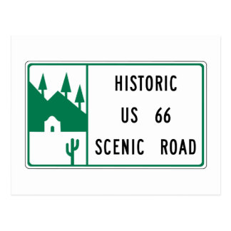 Route 66 - Historic US 66 Scenic Road Postcard