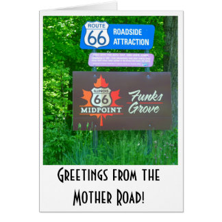Route 66 - Illinois - Funks Grove Greeting Card