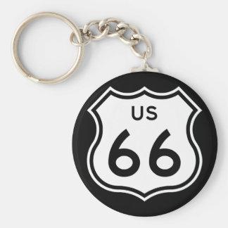 Route 66 Keychain Keychain