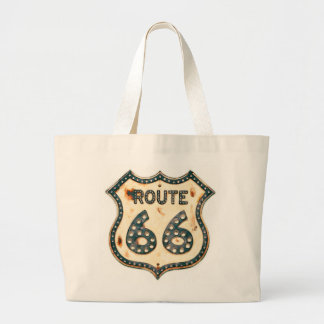 Route 66 large tote bag