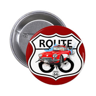 Route 66 life style love the freedom botón
