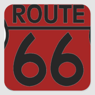 route 66 red CUSTOMIZE IT! Square Sticker