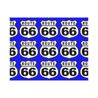 ROUTE 66 RETRO WALL HANGING Wrapped Canvas Canvas Print
