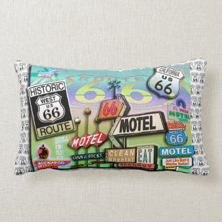 ROUTE 66 Reversible Lumbar PILLOWS by PopArtDiva
