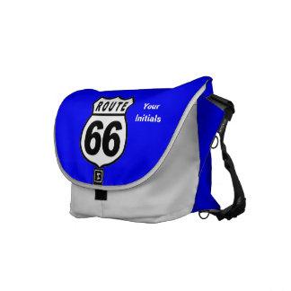 ROUTE 66 RICKSHAW MESSENGER BOOK BAG - Customize! Courier Bags