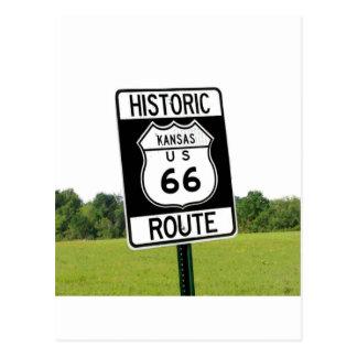 Route 66 Road Postcard