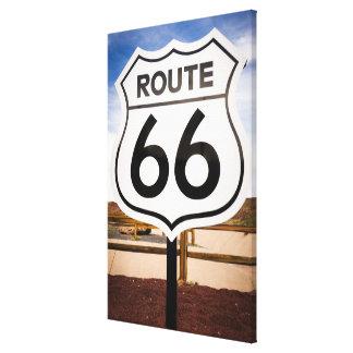 Route 66 road sign, Arizona Canvas Print
