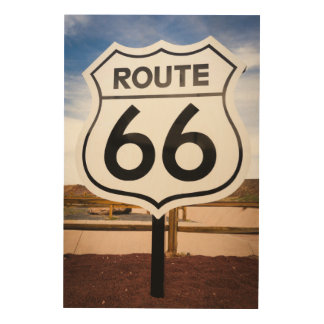 Route 66 road sign, Arizona Wood Wall Decor