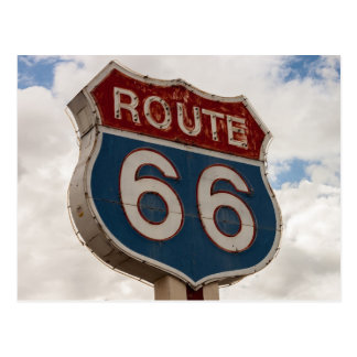 Route 66 Road Sign Postcard