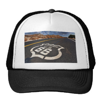 route 66 road sign USA travel hot rod Cap