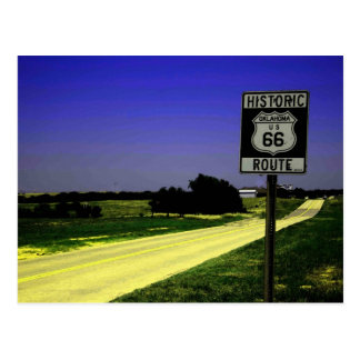 Route 66 Roadside Stop Postcard