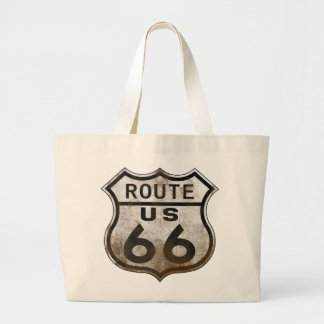 Route 66 Rustic Large Tote Bag