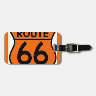 route 66 safety orange Customize this! Luggage Tag