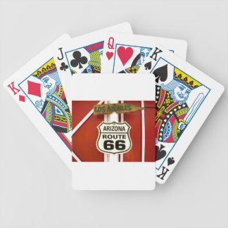 Route 66 Seligman Arizona Usa Bicycle Playing Cards