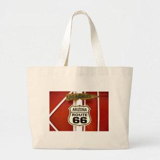 Route 66 Seligman Arizona Usa Large Tote Bag