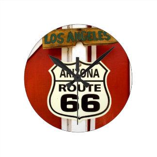 Route 66 Seligman Arizona Usa Round Clock