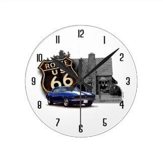 Route 66 Service Round Clock