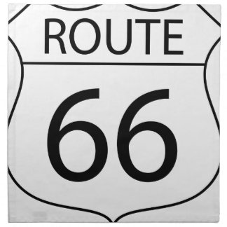 Route 66 Sign Drawing Napkin