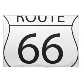 Route 66 Sign Drawing Placemat
